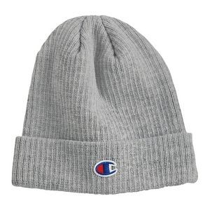 Champion® Ribbed Beanie (Embroidery)