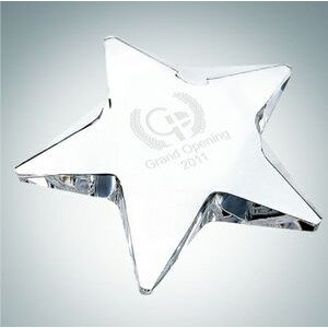 Pentagon Star Optical Crystal Paper Weight